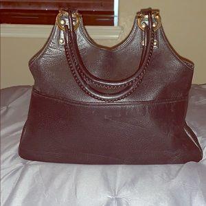 Auth Gucci Leather Handbag